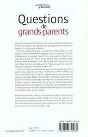 Questions De Grands-Parents - 4ème de couverture - Format classique