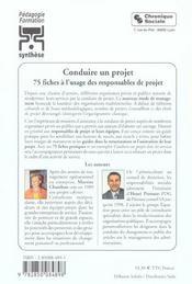 Conduire Un Projet 4eme Edition - 4ème de couverture - Format classique