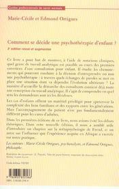 Comment se decide une psychothérapie d'enfant - 4ème de couverture - Format classique