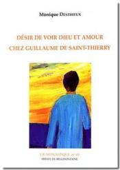 Désir de voir Dieu et amour chez Guillaume de Saint-Thierry - Couverture - Format classique