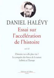 Essai sur l'acceleration de l'histoire - Intérieur - Format classique