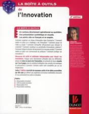 LA BOITE A OUTILS ; de l'innovation (2e édition) - 4ème de couverture - Format classique