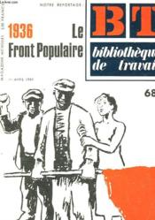 Histoire Du Front Populaire - Couverture - Format classique
