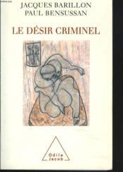 Le désir criminel - Couverture - Format classique