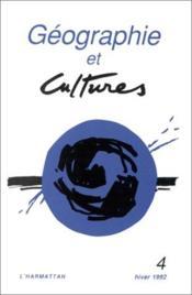 Geographie Et Culture N4 Hiver 1992 - Couverture - Format classique
