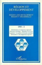 Region Et Developpement 2 (2-1995) - Couverture - Format classique