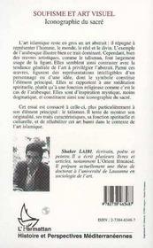 Soufisme Et Art Visuel : Iconographie Du Sacre - 4ème de couverture - Format classique
