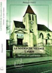 Notion de village à Paris ; Charonne ; un espace HU - Couverture - Format classique