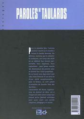 Paroles de taulards t.1 - 4ème de couverture - Format classique