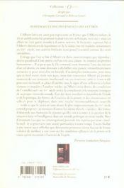 Avantages Et Inconvenients Des Lettres - 4ème de couverture - Format classique