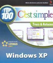 Windows Xp ; Top 100 Trucs Et Astuces - Intérieur - Format classique