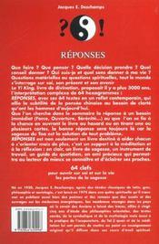 Reponses - 4ème de couverture - Format classique
