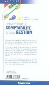 Les métiers de comptabilité et de la gestion (5e édition) - 4ème de couverture - Format classique