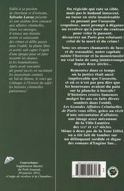 Paris Grandes Affaires Criminelles - 4ème de couverture - Format classique