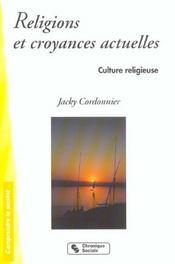 Religions Et Croyances Actuelles - Intérieur - Format classique