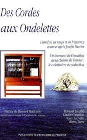 Des Cordes Aux Ondelettes. - Couverture - Format classique