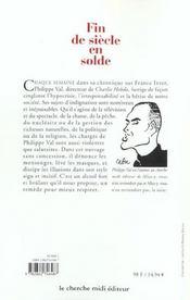 Fin De Siecle En Solde ; Chroniques - 4ème de couverture - Format classique