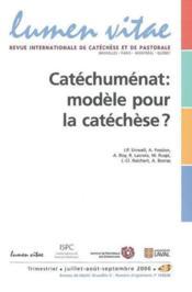 Catechumenat : Modele Pour La Catechese - Couverture - Format classique