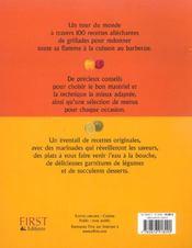 Barbecue, 100 Recettes Du Monde Entier - 4ème de couverture - Format classique