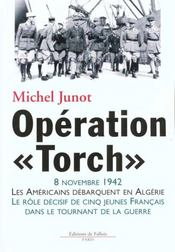 Operation torch - Intérieur - Format classique