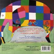 Le petit livre à compter d'Elmer - 4ème de couverture - Format classique