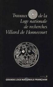 Travaux de la loge nationale de recherches Villard de Honnecourt n°24 - Couverture - Format classique