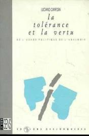 Tolerance Et La Vertu (La) - Couverture - Format classique