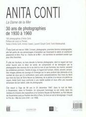 Anita Conti la Dame de la mer - 4ème de couverture - Format classique