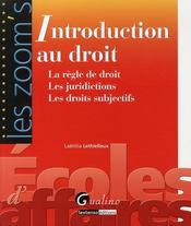 Vente  Introduction au droit  - Laetitia Lethielleux