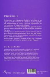 Immortelle - 4ème de couverture - Format classique