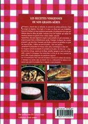 Les recettes de nos grands-meres - 4ème de couverture - Format classique