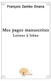 Mes pages manuscrites - Couverture - Format classique