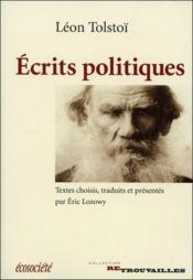 Ecrits Politiques De Tolstoi - Couverture - Format classique