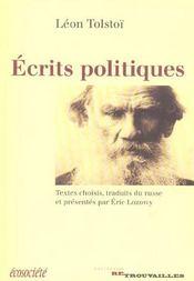 Ecrits Politiques De Tolstoi - Intérieur - Format classique