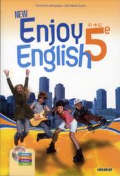 NEW ENJOY ENGLISH ; anglais ; 5ème ; manuel de l'élève - Couverture - Format classique