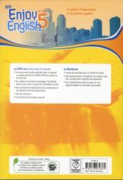 NEW ENJOY ENGLISH ; anglais ; 5ème ; manuel de l'élève - 4ème de couverture - Format classique