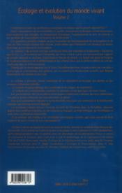 Écologie et évolution du monde vivant t.2 ; l'échelle crée le phénomène - 4ème de couverture - Format classique
