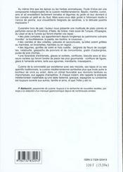 La Cuisine Mediterraneenne - 4ème de couverture - Format classique