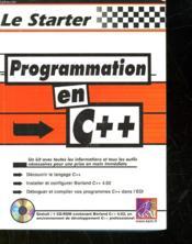 Le Starter Programmation C++ - Couverture - Format classique