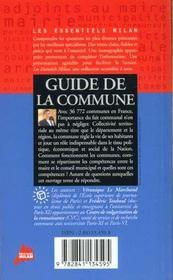La commune - 4ème de couverture - Format classique
