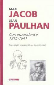 Correspondance max jacob-jean paulhan, 1915-1941 - Intérieur - Format classique