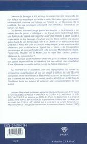 Lectures Du <I>Gil Blas</I> De Lesage - 4ème de couverture - Format classique