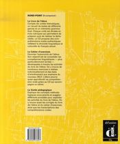Rond point niveau 3 ; livre élève - 4ème de couverture - Format classique