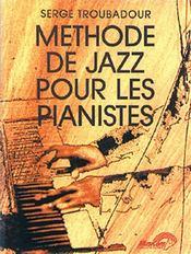 Méthode de jazz pour les pianistes - Couverture - Format classique