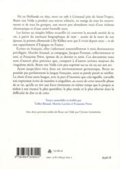 Lettres - 4ème de couverture - Format classique