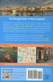 The Rough Guide to New England - 4ème de couverture - Format classique