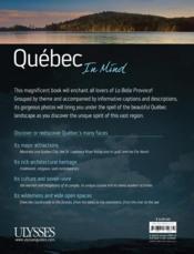 Québec in Mind - 4ème de couverture - Format classique