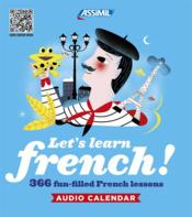 Vente livre :  Calendrier sonore ; let's learn french  - Estelle Demontrond-Box