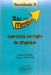 Exercices Corriges De Physique Terminale S - Intérieur - Format classique