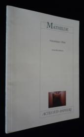 Mathilde (Ne) - Couverture - Format classique